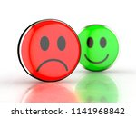 happy face and sad face. green...   Shutterstock . vector #1141968842