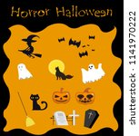 halloween collection element...   Shutterstock .eps vector #1141970222