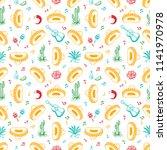 cinco de mayo. mexico seamless... | Shutterstock . vector #1141970978