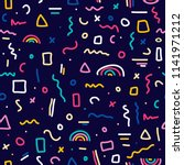 cute simple pattern with... | Shutterstock .eps vector #1141971212