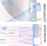 gift certificate banknote... | Shutterstock .eps vector #1141971485