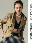 femme fatale. portait of a... | Shutterstock . vector #1141974128