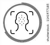 face id. face unlock facial...   Shutterstock .eps vector #1141977185