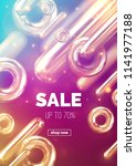 sale banner design. vector 3d...   Shutterstock .eps vector #1141977188
