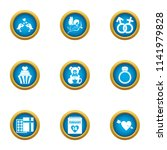 wedding formality icons set.... | Shutterstock .eps vector #1141979828
