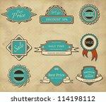 set of vintage frames | Shutterstock .eps vector #114198112