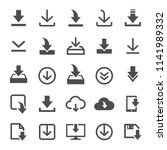 files download icons vector set ... | Shutterstock .eps vector #1141989332