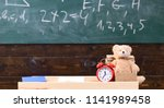 classroom with chalkboard on... | Shutterstock . vector #1141989458