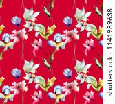 summer seamless pattern with...   Shutterstock . vector #1141989638