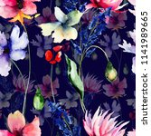 seamless pattern with wild... | Shutterstock . vector #1141989665