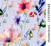 seamless pattern with... | Shutterstock . vector #1141989668