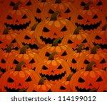 scary jack o lantern halloween... | Shutterstock .eps vector #114199012