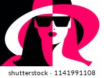 abstract female close up... | Shutterstock .eps vector #1141991108