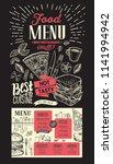 food menu for restaurant.... | Shutterstock .eps vector #1141994942