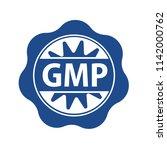 gmp rubber stamp  good... | Shutterstock .eps vector #1142000762