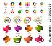 set of abstract elements vector.... | Shutterstock .eps vector #1142003318