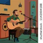 vector illustration of guitar...   Shutterstock .eps vector #1142004188