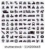 vector black big transportation ... | Shutterstock .eps vector #114200665