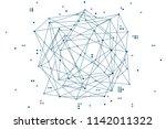 abstract blockchain background. ...   Shutterstock .eps vector #1142011322