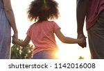 little girl holds fathers and... | Shutterstock . vector #1142016008