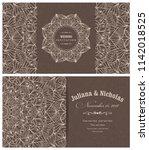 wedding invitation cards... | Shutterstock .eps vector #1142018525