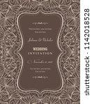 wedding invitation cards... | Shutterstock .eps vector #1142018528