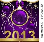 christmas background  ribbons | Shutterstock .eps vector #114202852