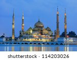 evening view of crystal mosque...   Shutterstock . vector #114203026