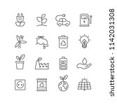 set of ecology icons. for your... | Shutterstock .eps vector #1142031308