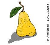 pear. vector illustration of a... | Shutterstock .eps vector #1142032055