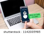 artificial intelligence ai chat ... | Shutterstock . vector #1142035985