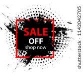 black friday sale. summer sale...   Shutterstock .eps vector #1142042705