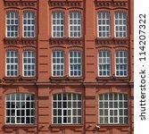 facade of an office building in ... | Shutterstock . vector #114207322