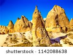 sand stones mountain rocks view.... | Shutterstock . vector #1142088638
