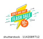 flash sale promotion banner ... | Shutterstock .eps vector #1142089712