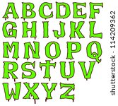 green halloween alphabet | Shutterstock . vector #114209362