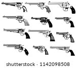 Big Set Revolvers Firearms Guns