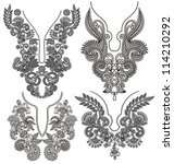 collection of ornamental floral ... | Shutterstock . vector #114210292