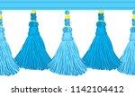 seamless border pattern ...   Shutterstock .eps vector #1142104412