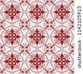 seamless pattern of tiles.... | Shutterstock .eps vector #1142105915