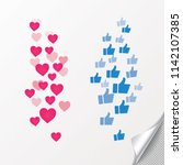 new heart love  like  thumbs up.... | Shutterstock .eps vector #1142107385
