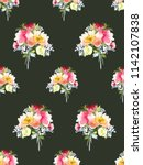 seamless summer pattern with... | Shutterstock . vector #1142107838