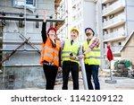 building construction crew   Shutterstock . vector #1142109122