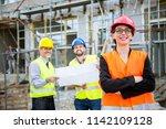 building construction crew | Shutterstock . vector #1142109128