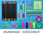 back to school concept  school...   Shutterstock . vector #1142114615