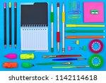 back to school concept  school...   Shutterstock . vector #1142114618