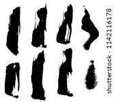 black brush strokes on a white... | Shutterstock .eps vector #1142116178