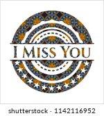 i miss you arabic emblem... | Shutterstock .eps vector #1142116952