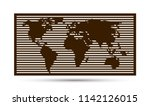 world map. vector template for... | Shutterstock .eps vector #1142126015