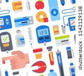 diabetes vector medical care to ... | Shutterstock .eps vector #1142129138